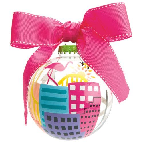 Santa Barbara Design Studio Lolita Holiday Moments Glass Ball Ornament, Florida -