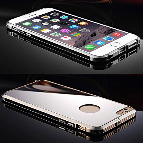 Vovotrade(TM)Ultra-thin Aluminum Metal Mirror Cover Case for iPhone 6 Plus 5.5inch (Black)