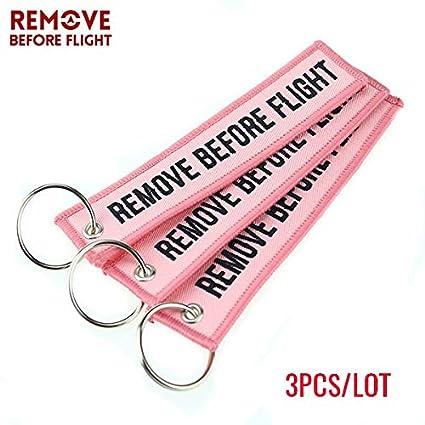 Amazon.com : Key Rings Remove Before Flight Keychain ...