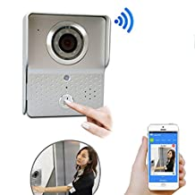 Wireless Wifi Visual Two-Way Intercom Doorbell IP Video Door Phone Outdoor Bell Camera Remote Control Unlocking support Smartphone IOS Andriod APP