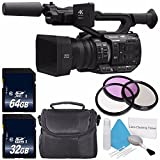 Panasonic AG-UX90 4K/HD Professional Camcorder + 32GB SDHC Class 10 Memory Card + 64GB SDXC Class 10 Memory Card + 67mm 3 Piece Filter Kit + Deluxe Cleaning Kit + Carrying Case Bundle