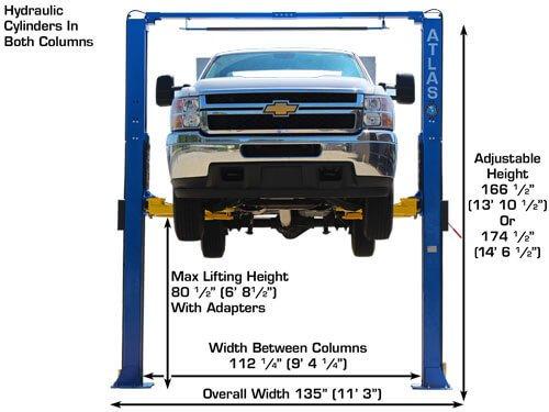 Atlas PV9HP Overhead 9000 lb Capacity Adjustable Height 2