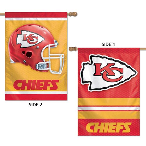 Kansas City Chiefs Vertical Flag 2 Sided 28