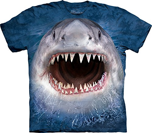 Price comparison product image The Mountain Kids Wicked Nasty Shark T-Shirt, Small, Blue