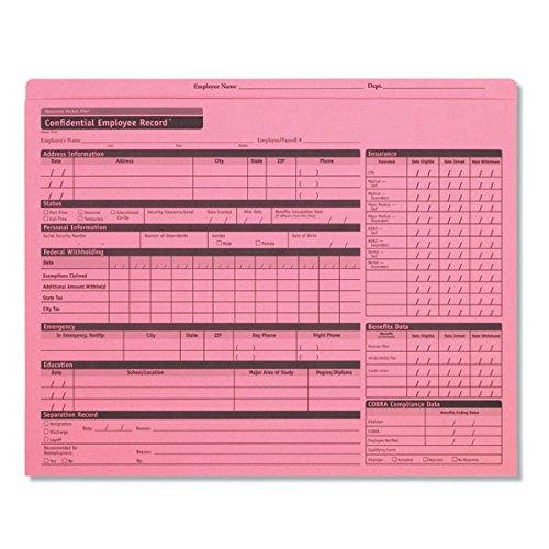 ComplyRight Personnel Pocket File Pink Folder (A0781)