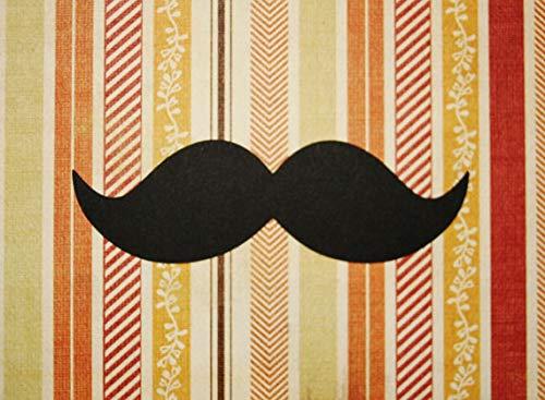 Paper mustache cutouts, 4 inch wide, 20 pieces]()