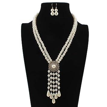 516b335a1e07 ChenYongPing Conjuntos de joyería para Mujer Señoras Vintage Art Deco  Collar