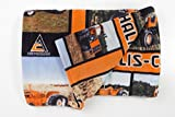 "Allis-Chalmers Tractor Fleece Blanket, Throw Size 58""x72"""