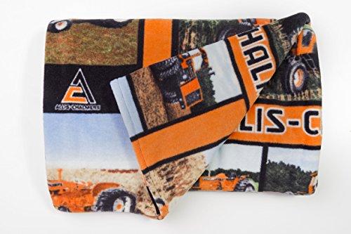 "Allis-Chalmers Tractor Fleece Blanket, Throw Size 58""x72"""