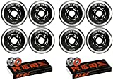 Revision Wheels Roller Hockey Variant Steel 72mm 80A 8-Pack with Bones Bearings