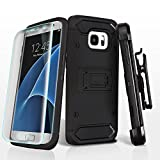 Asmyna Cell Phone Case for Samsung Galaxy S7 Edge - Black/Black