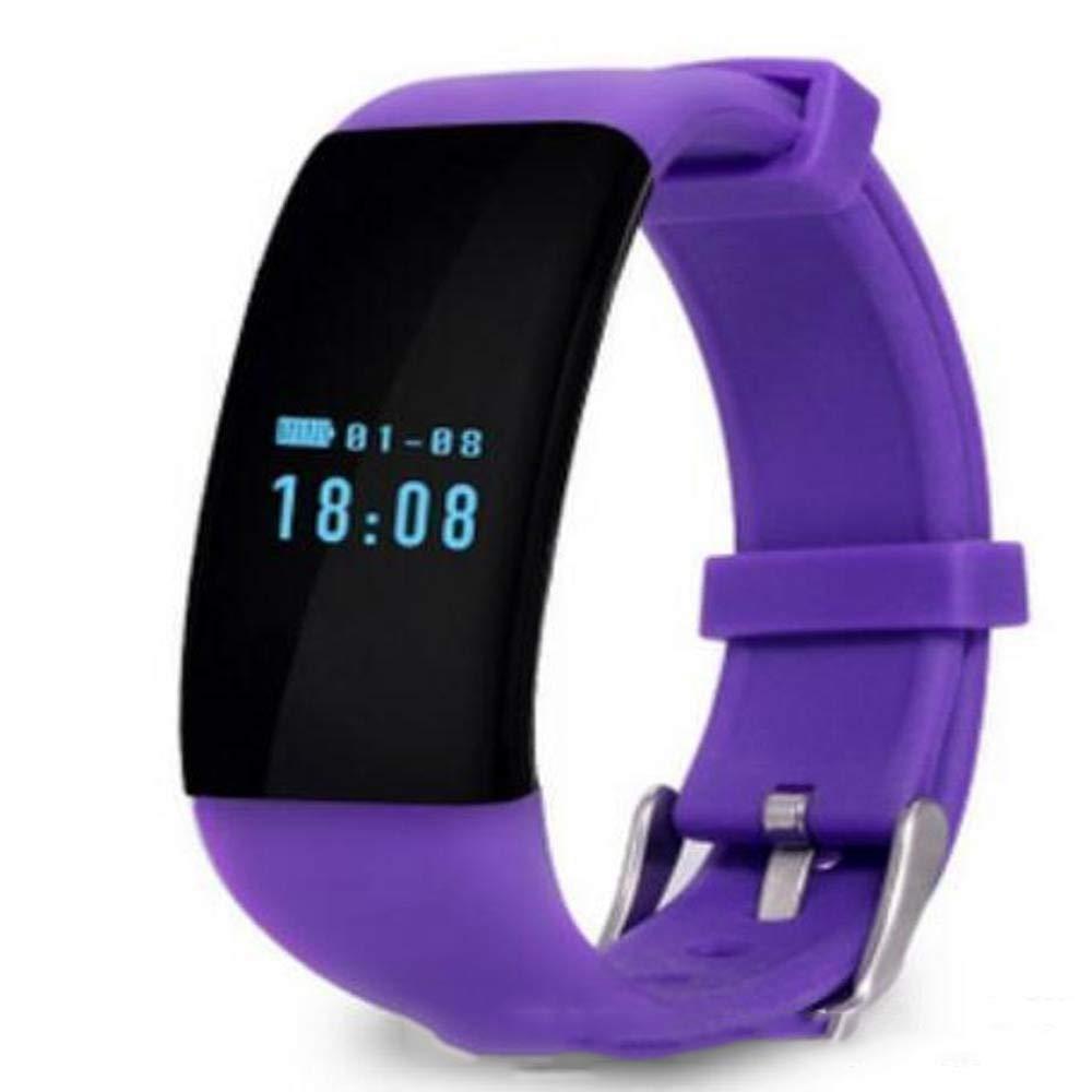 Ambiguity Fitness-Armband,Smart Fitness Armband Uhr Armband Miband Touchpad Schlaf Monitor Herzfrequenz Mi Band2 Free Screen Film