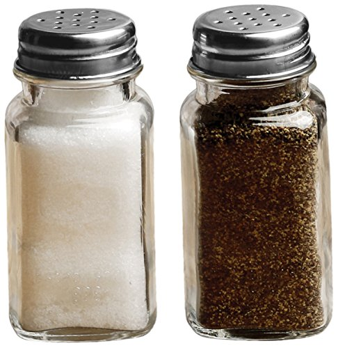 Shaker Ounce 2.85 (Circleware Yorkshire Glass Salt and Pepper Shakers, Set of 2, 2.85 oz., Clear)
