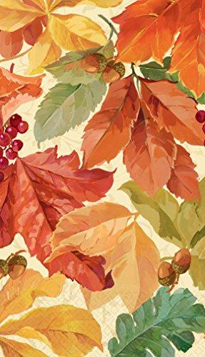 Elegant Leaves (Thanksgiving Fall Elegant Leaves Guest Napkins Celebration Party Harvest 16 Pk by Amscan)