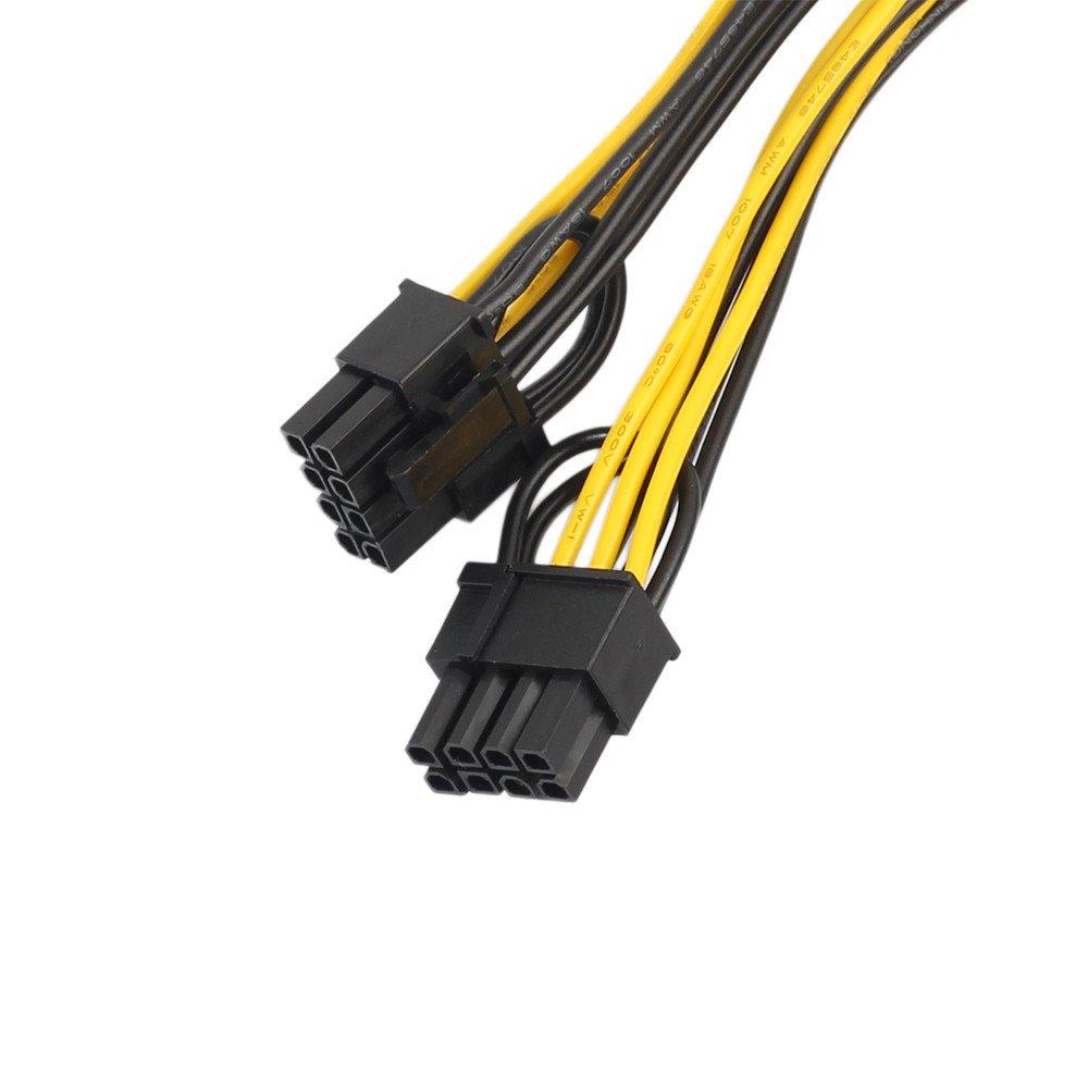 PCI-E 6-pin to 2x 6+2-pin Power Splitter Cable PCIE PCI Express 6-pin//8-pin