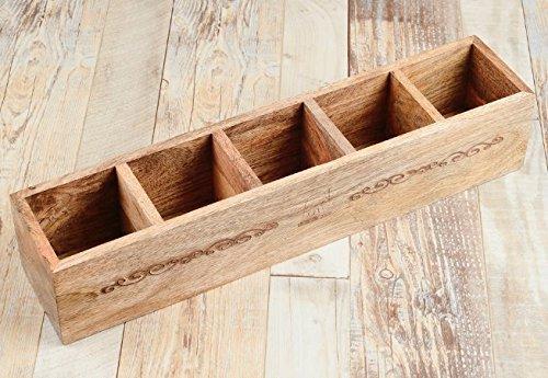 Rusticity Wooden Wine Rack/Bottle Holder, 5 Bottle Stackable Countertop Desk Top Wine Storage| Handmade|(19.5 x 4.2 in) by Rusticity