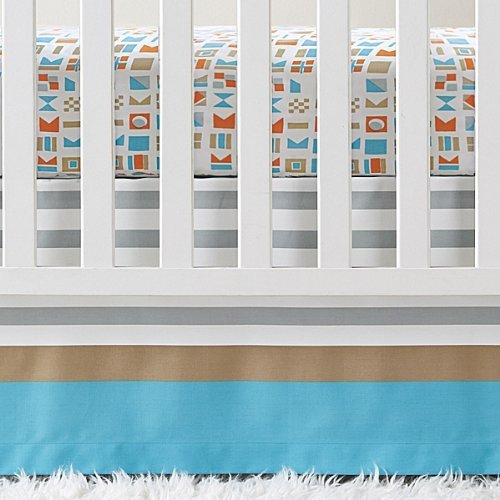 (Serena and Lily Nautical Flag Crib Skirt by Serena and Lily)