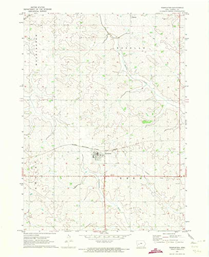 YellowMaps Templeton IA topo map, 1:24000 Scale, 7.5 X 7.5 Minute, Historical, 1971, Updated 1973, 27 x 22 in - Tyvek