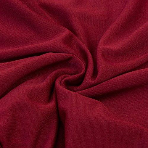 Dentelle Rouge Femmes mi avec en Ligne Longue Haute Taille FuweiEncore lgante Mesdames Vineux Volant Swing Jupe A Swing Robe R0YqTw
