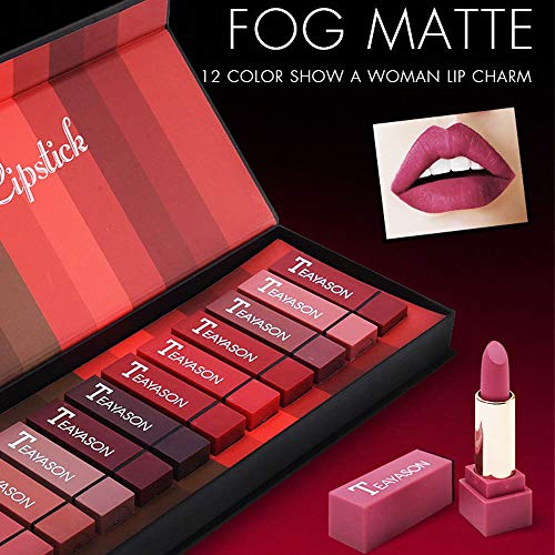 FOXCESD Matte Lipstick Set Waterproof, Long Lasting, Glide Smoothly, Pack of 12