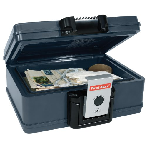 First Alert 2013F Fire and Water Chest, 0.17 Cubic Foot, Gray