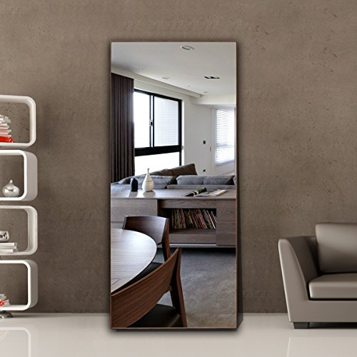 Thin Frame Floor Mirror, 1-34206T (Natural, - Frame Thin Mirror