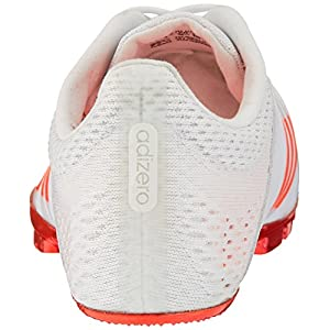 adidas Originals Adizero Finesse Track Shoe, White/Infrared/Metallic/Silver, 4.5 M US
