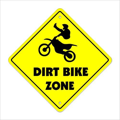 Dirt Bike Crossing Sign Zone Xing | Indoor/Outdoor | 12