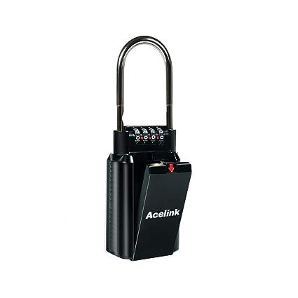 Acelink Caja de Seguridad para Llaves, 2 en 1, Caja de Cerradura con grillete