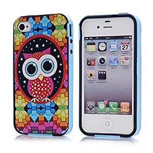 TOPQQ Lovely Owl Picture TPU + PC 2-in-1 Hard Case Cover for Apple iPhone 4/4S