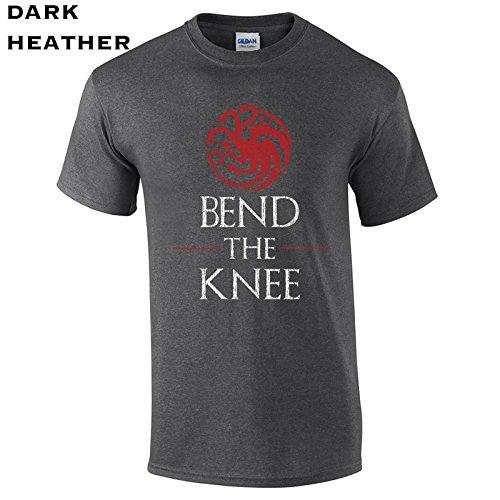 Swaffy Tees 621 Bend The Knee Funny Men's T Shirt Dark Heather