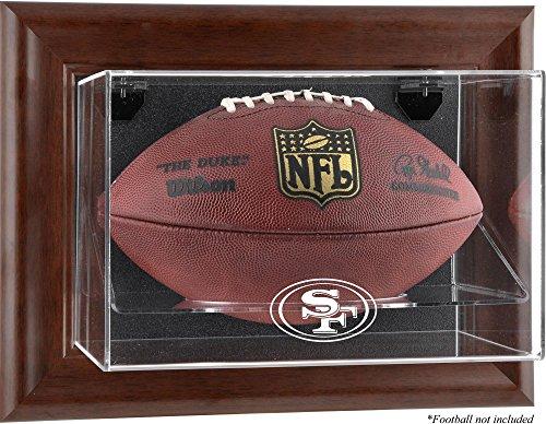 (San Francisco 49ers Brown Framed Wall Mounted Logo Football)