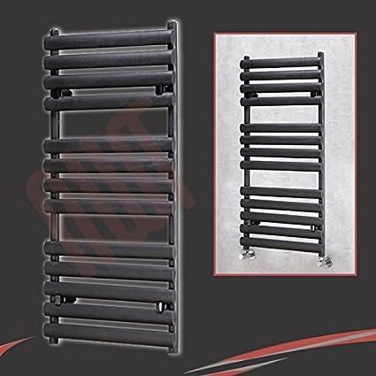 500 mm (w) x 1200 mm (h) -Brecon Negro Radiador toallero
