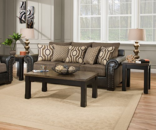 Simmons Upholstery 7591BR-04QE Lucky Marble Sleeper Sofa, Queen, ()