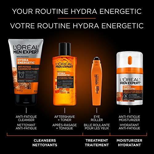L'Oreal Paris Men Expert Hydra-Energetic, Anti Fatigue Ice Cold Eye Roller With Vitamin C & Caffeine, For Tired Skin, 0.33-Fluid OZ by L'Oreal Paris (Image #4)