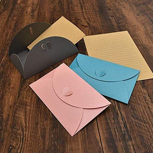 SY-shop Liebe Schnalle Umschlag Briefpapier Anzug Mode Kraftpapier Kreative Herz Schnalle Dekoration Liebesbrief Umschlag