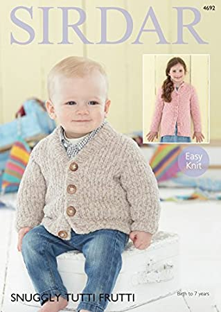 Sirdar Baby & Kinder Jacken Tutti Frutti Strickmuster 4692: Amazon ...