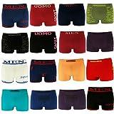 10er Pack L&K Herren Boxershorts Unterwäsche Microfaser Gemischt Farben/Muster YHUVA3 Gr. M/L