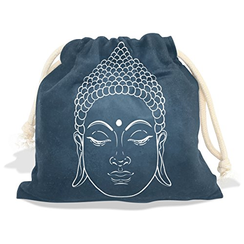 Buddah Buddhism Buddhist Zen Art Velvet Drawstring Gift Bag Wrap Present Pouches Favor for Jewelry, Coin, Holiday, Birthday, Party by Franzibla