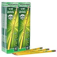 Lápices de grafito con revestimiento de madera Ticonderoga, # 2 HB Soft, amarillo, 96 cuentas (13872)