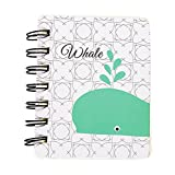 Mini Spiral Notebook Paper Blank Page Notebook Cute Animal Journal Diary Notepad Small Pocket Notebook for Children Women (J)