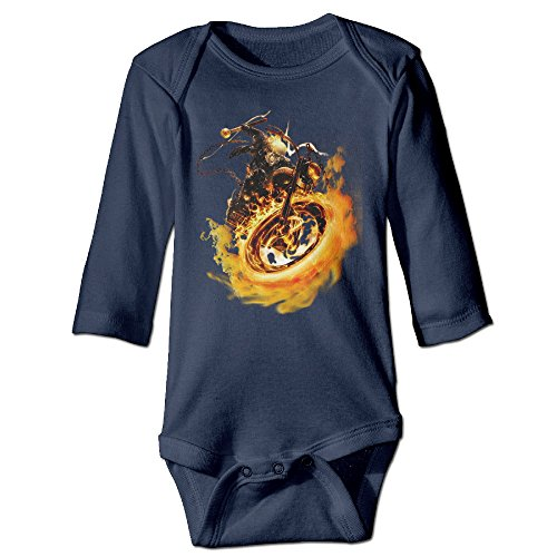 Boss-Seller Ghost Rider Long Sleeve Romper Bodysuit For 6-24 Months Infant Size 6 M - Boss Goggles