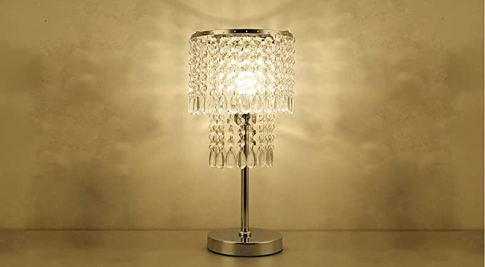 Crystal Table Lamp Touch Control Crystal Chandelier For