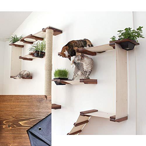 Wall Mounted Modular Cat Tree