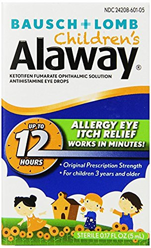 Bausch + Lomb Alaway Childrens Antihistamine Eye Drops, 0.17 Ounce Bottle