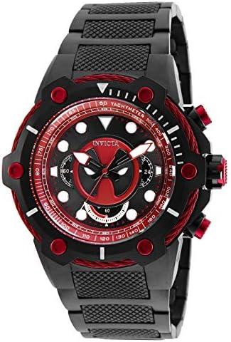 Invicta Men s Marvel 27324 Analog Display Quartz Black Watch