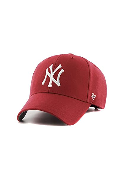 Gorra 47 Brand - Mlb New York Yankees Mvp Curved V Struct fit rojo talla   Ajustable  Amazon.es  Ropa y accesorios f567a429d41