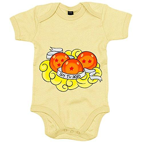 Body bebé Dragon Ball soy tu deseo cumplido bolas de dragón recién nacido - Amarillo, 6-12 meses: Amazon.es: Bebé