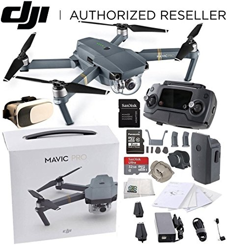 DJI Mavic Pro Collapsible Quadcopter Virtual Reality Experie