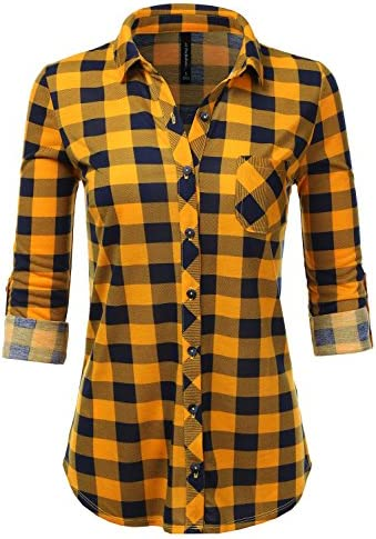 JJ Perfection Womens Collared Flannel product image